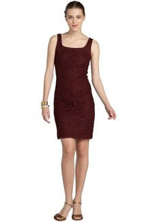 Isaac Mizrahi plum stretch lace sleeveless dress