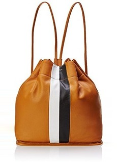 Isaac Mizrahi Tessa Backpack,Butterscotch Limo Pebble/Butterscotch Lizard/White/Black Limo Pebble Stripe,One Size