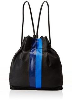 Isaac Mizrahi Tessa Backpack,Black Limo Pebble/Black Croco/Sapphire Ballerina/Cerulean Blue Limo Pebble Stripe,One Size