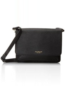Isaac Mizrahi Wendy Cross Body Bag, Black/Black, One Size