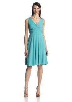 Isaac Mizrahi Women's Sleeveless V-Neck Full-Skirt Dress