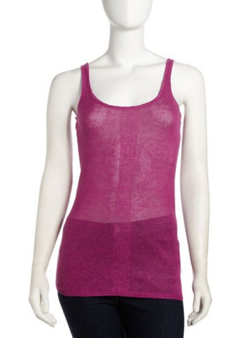 Isda & Co Sheer Linen Tank