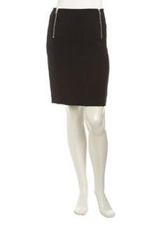 Isda & Co Side-Zip Pencil Skirt, Deep Sea