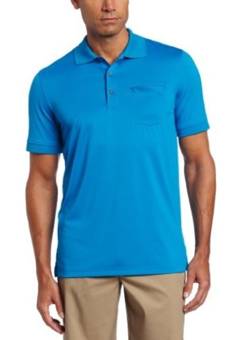 Izod izod men 39 s short sleeve chest pocket polo casual for Men s polo shirts with chest pocket