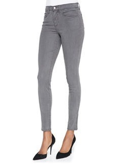485 Mid-Rise Sateen Skinny Pants, Armour   485 Mid-Rise Sateen Skinny Pants, Armour
