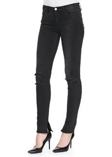 8112 Rail Mid-Rise Skinny Distressed Jeans, Break Up Black   8112 Rail Mid-Rise Skinny Distressed Jeans, Break Up Black