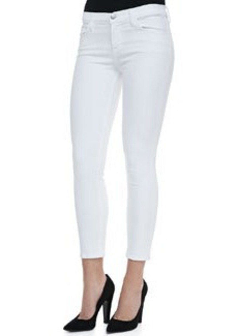 835 Mid-Rise Cropped Jeans, Blanc   835 Mid-Rise Cropped Jeans, Blanc
