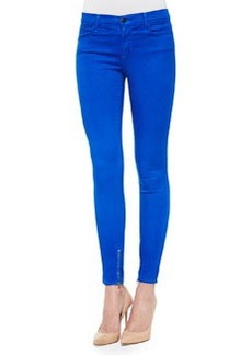 8428 Cropped Zip-Hem Skinny-Fit Jeans, Electric Blue   8428 Cropped Zip-Hem Skinny-Fit Jeans, Electric Blue