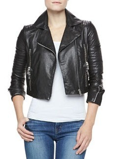 Aiah Cropped Leather Jacket   Aiah Cropped Leather Jacket