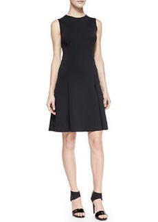 Alexa Sleeveless Pleat-Skirt Dress   Alexa Sleeveless Pleat-Skirt Dress