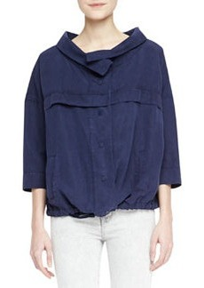 Bapsi Faded Denim Poncho Jacket   Bapsi Faded Denim Poncho Jacket