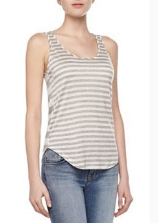 Bell Mixed-Stripe Tank Top   Bell Mixed-Stripe Tank Top