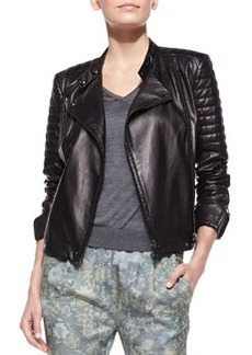 Crista Leather Moto Jacket   Crista Leather Moto Jacket