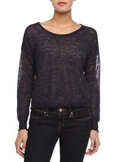 Demi Semisheer Slub Knit Sweater   Demi Semisheer Slub Knit Sweater