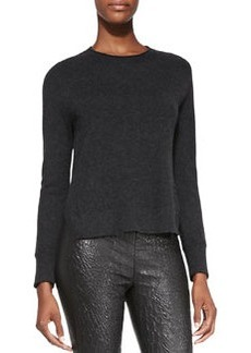Eugenia Cashmere Split-Hem Sweater   Eugenia Cashmere Split-Hem Sweater