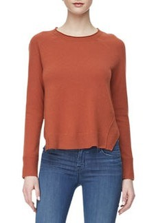Eugenia Crewneck Cashmere Sweater, Raw Sienna   Eugenia Crewneck Cashmere Sweater, Raw Sienna