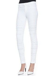 Genevieve Super Skinny Studded Jeans, Blanc   Genevieve Super Skinny Studded Jeans, Blanc