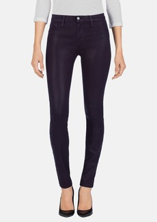 J Brand '485' Coated Skinny Jeans (Blackberry)