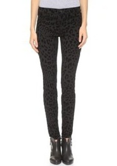 J Brand 485 Flocked Ponte Super Skinny Pants