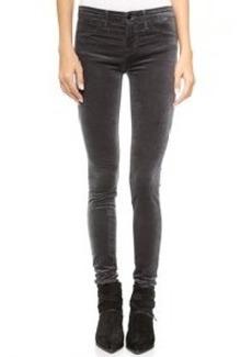 J Brand 485 Mid Rise Velvet Super Skinny Pants