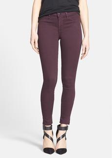 J Brand '485' Skinny Jeans (Dark Plum)