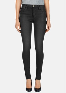 J Brand '620' Mid Rise Skinny Jeans (Black Diamond)