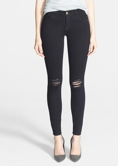 J Brand '620' Mid-Rise Skinny Jeans (Blackout)