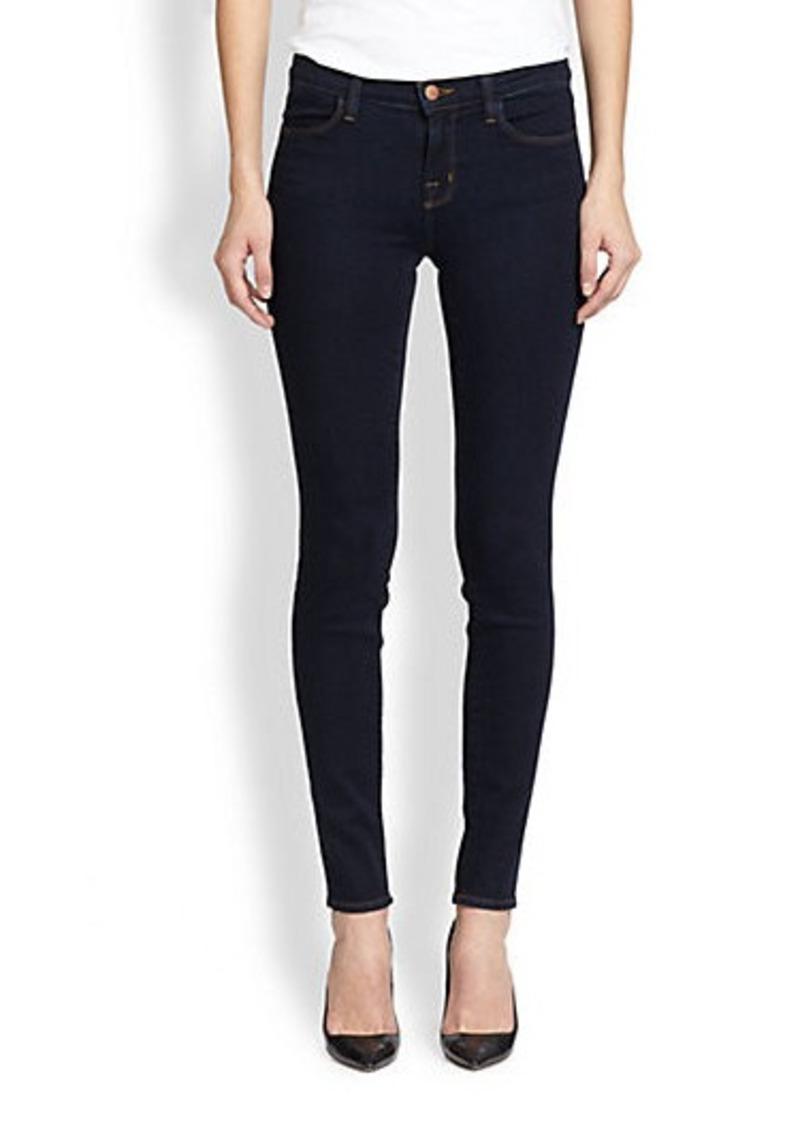 j brand j brand 620 mid rise super skinny jeans denim shop it to me. Black Bedroom Furniture Sets. Home Design Ideas
