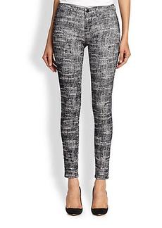 J Brand 620 Printed Luxe Sateen Skinny Jeans