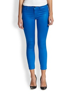 J Brand 635 Coated Cropped Skinny Jeans