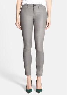 J Brand '8001' Lambskin Leather Pants (Grey Rock)