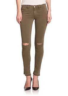 J Brand 811 Mid-Rise Distressed Skinny Jeans