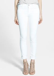 J Brand '811' Mid-Rise Stovepipe Jeans (Blanc)