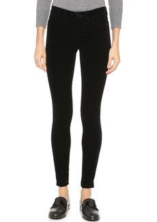 J Brand 815 Velveteen Mid Rise Super Skinny Pants