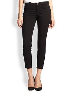 J Brand 835 Rail Mid-Rise Ankle-Zip Capri Jeans