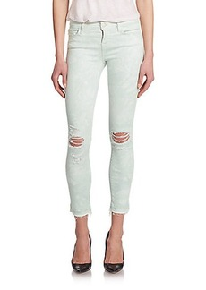 J Brand 9227 Photo Ready Low-Rise Distressed Tie-Dye Ankle Jeans
