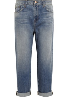 J Brand Ace embellished low-rise boyfriend jeans