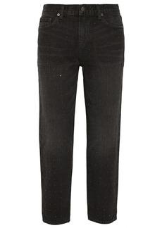 J Brand Ace studded cropped boyfriend jeans