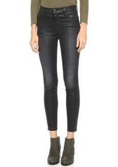 J Brand Alana High Rise Coated Cropped Jeans