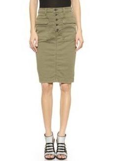 J Brand Ani Button Front Utility Skirt