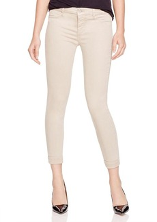 J Brand Anja Cuffed Crop Jeans in Concrete