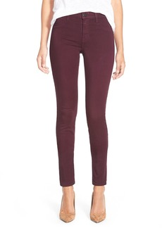 J Brand Ankle Super Skinny Jeans (Deep Mulberry)