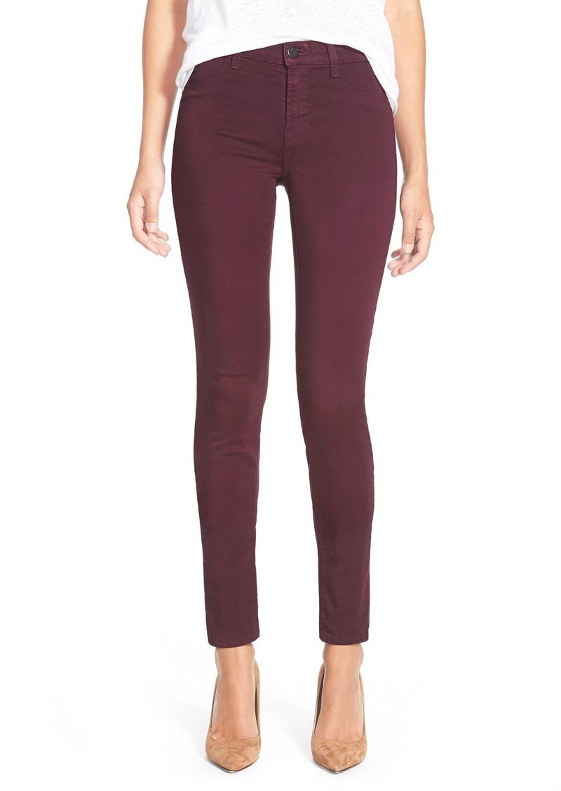 j brand j brand ankle super skinny jeans deep mulberry denim shop it to me. Black Bedroom Furniture Sets. Home Design Ideas