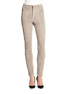 J Brand Astrid Suede Leather Pants