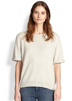 J Brand Audrey Cashmere Side-Zip Sweater