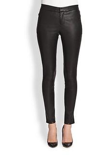 J Brand Beryl Leather Skinny Pants