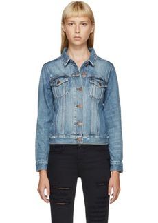 J Brand Blue Denim Classic Faded Jacket
