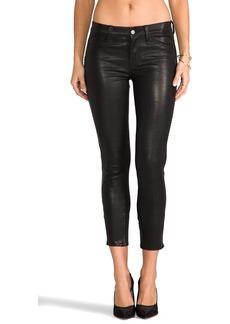 J Brand Bonded Studded Leather Pant in Black