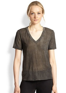 J Brand Bruna Cotton Burnout Tee