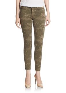 J BRAND Camo-Print Cropped Skinny Jeans